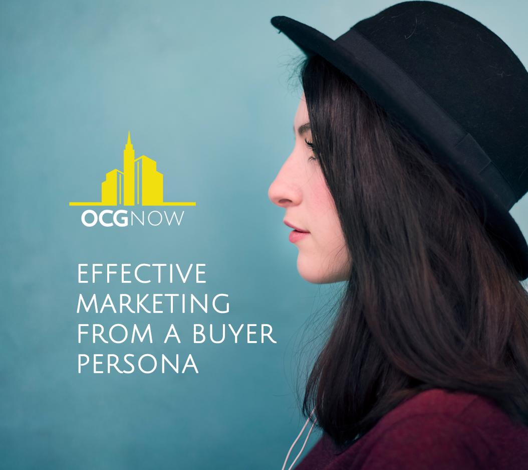 Woman wearing new hat for depiction of customer buying persona digital marketing